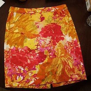 JCrew Floral Pencil Skirt